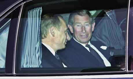 Prince Charles (right) pictured with the Russian president Vladimir Putin in 2003.