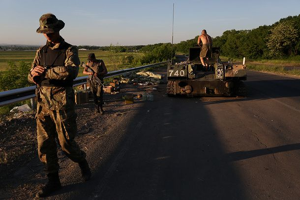 16 Ukrainian servicemen were killed by pro-Russian insurgents near Volnovakha town in Donetsk Oblast on May 22.
