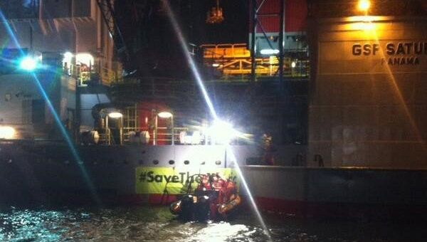 Dutch Police Arrest Greenpeace Activists Blocking Gazprom Platform.
