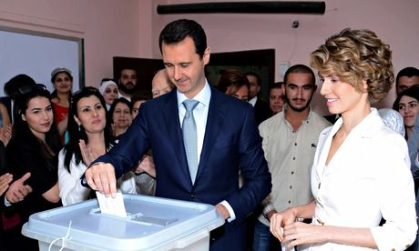Syrian president Bashar al-Assad has won the election in a landslide, though polling has been described by western onlookers as a 'farce