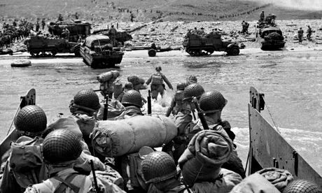 American troops in landing craft go ashore in Normandy on D-day, 6 June, 1944. Photograph: Hulton-Deutsch Collection/Corbis