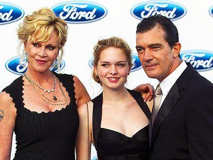 Melanie Griffith, Stella del Carmen and Antonio Banderas