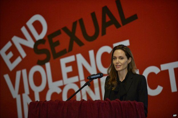 Angelina Jolie is co-hosting the event and has been a leading force in the campaign to end sexual violence in war