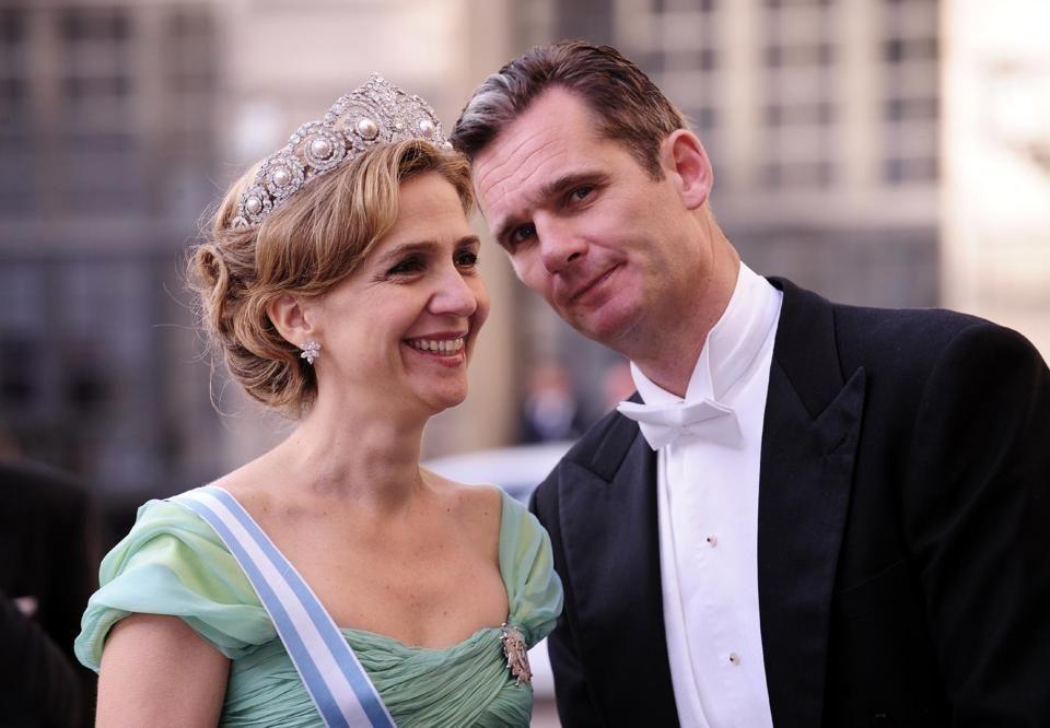 Princess Cristina of Spain and her husband Inaki Urdangarin,