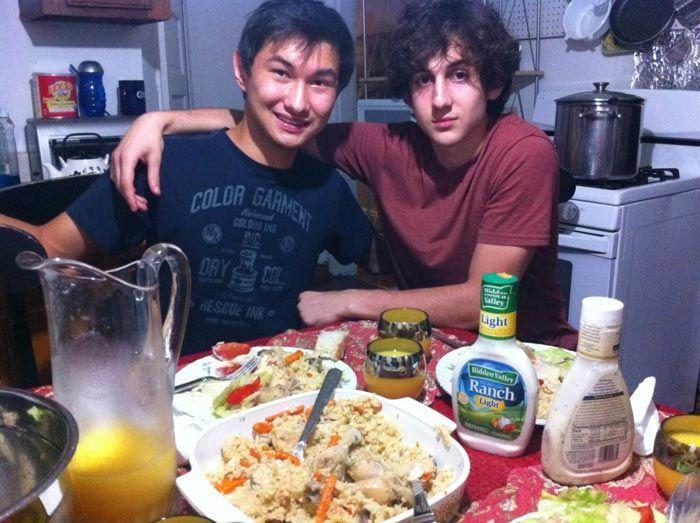 Azamat Tazhayakov and Dzhokhar Tsarnaev
