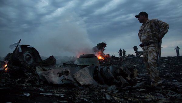 Debris of Malaysia Airlines Boeing 777 in Donetsk Region
