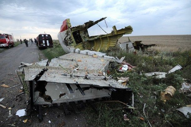 Wreckage of the Boeing 777 which crashed in eastern Ukraine on July 17.