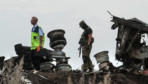 Donetsk, Ukraine - Malaysia Airlines' Boeing 777 airliner crash site
