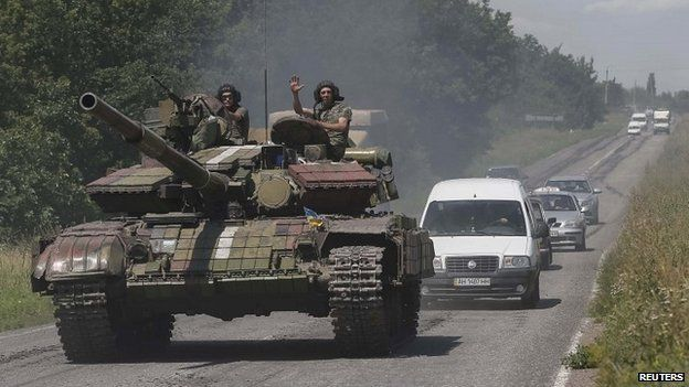 Fighting is continuing in eastern Ukraine, with heavy clashes reported near Donetsk on Monday