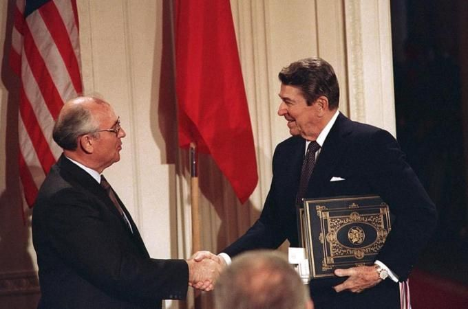 Russia and the US signed the Intermediate-Range Nuclear Forces Treaty in 1987 [File: AP]