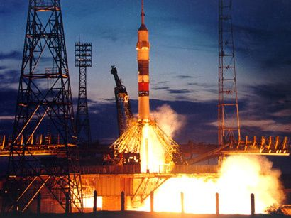 Rocket launch at Baikonur. Photo courtesy: Trend