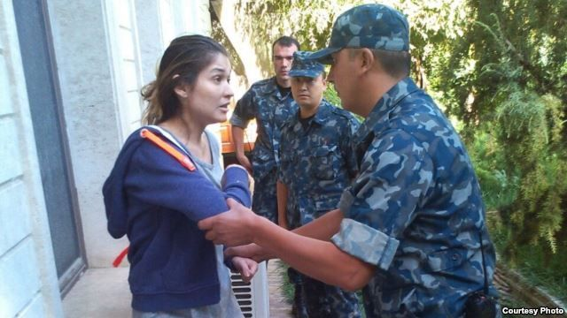 One of several undated photos released by Ryan Locksley on 16sep2014 of Gulnara Karimova, reportedly under Uzbek house arrest