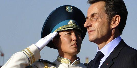 Nicolas Sarkozy, en visite officielle au Kazakhstan, à Astana, le 6 octobre 2009.