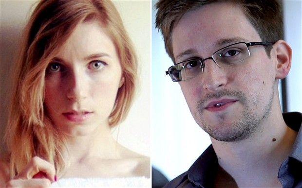 Lindsay Mills and boyfriend Edward Snowden.