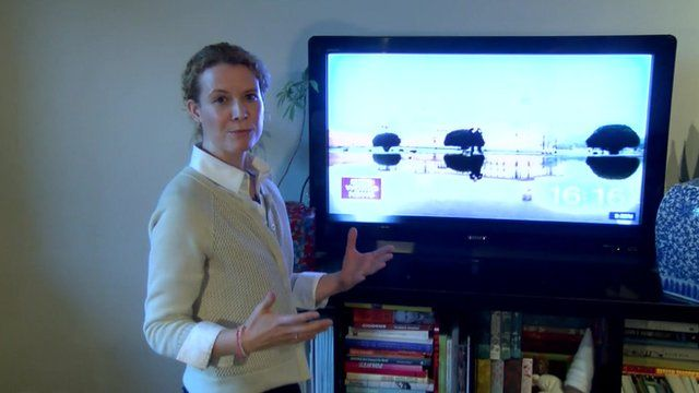 The BBC's Celia Hatton demonstrates Chinese censorship of BBC World TV