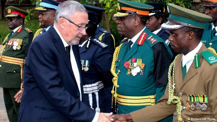 Guy Scott, a white man, is now interim president of an African country.