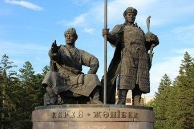 Monument to khans Kerei and Zhanibek in Astana