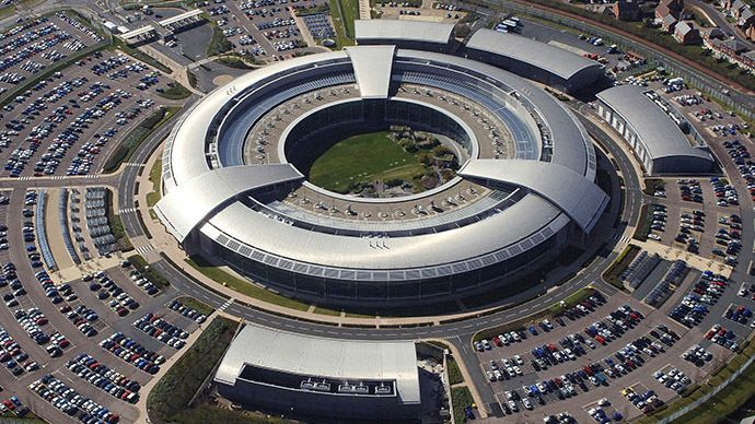 n aerial image of the Government Communications Headquarters (GCHQ) in Cheltenham, Gloucestershire. (Image from www.defenceimagery.mod.uk)