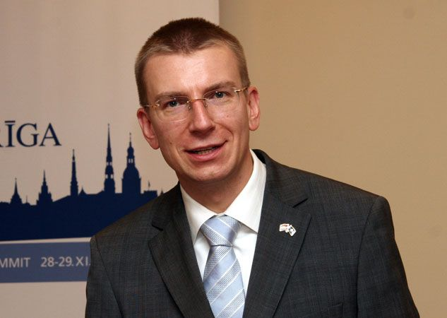 Edgars Rinkēvičs, the foreign minister of Latvia.