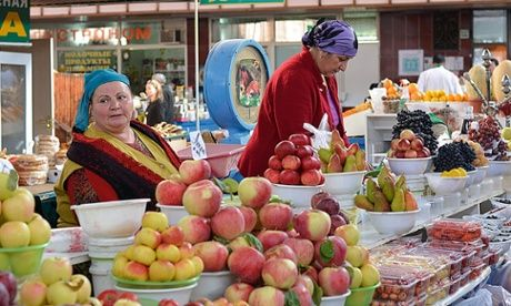 The Green Market in Almaty. Photograph: Ben Reade/Guardian