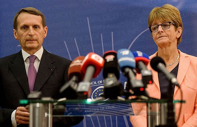 Russian Duma Speaker S. Naryshkin and Ann Bossa