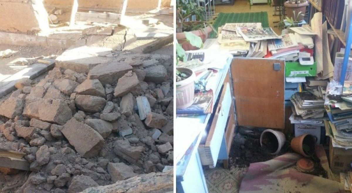 Destructions after earthquake in Kyrgistan