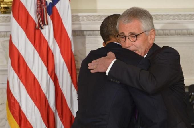 Obama described Hagel, who served as secretary of defence for two years, as