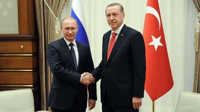 Russian President Vladimir Putin (L) and President of Turkey Recep Tayyip Erdogan during a meeting in the Presidential Palace in Ankara December 1, 2014. (RIA Novosti)
