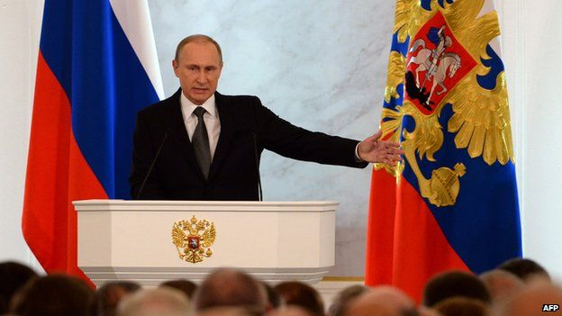President Putin said Russia must release its full potential in response to Western sanctions