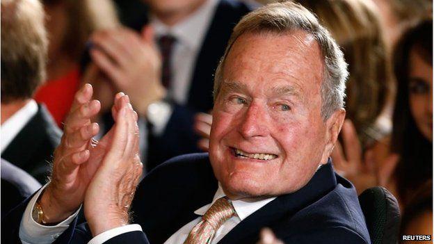 File photo of George H W Bush, July 2013 George HW Bush is the oldest living former US president