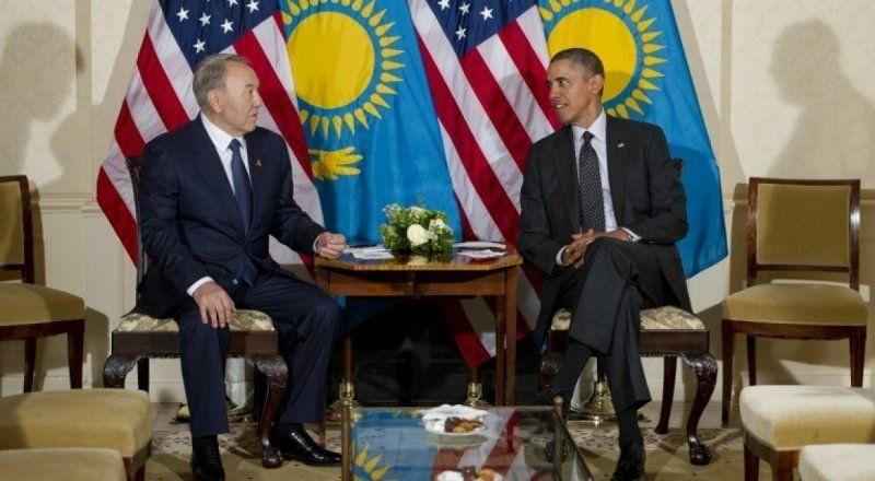 President of Kazakhstan Nursultan Nazarbayev and American President Barak Obama. Photo © AFP