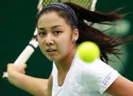 Rising tennis star - Zarina Dias from Kazakhstan will play against Marina Sharapova today