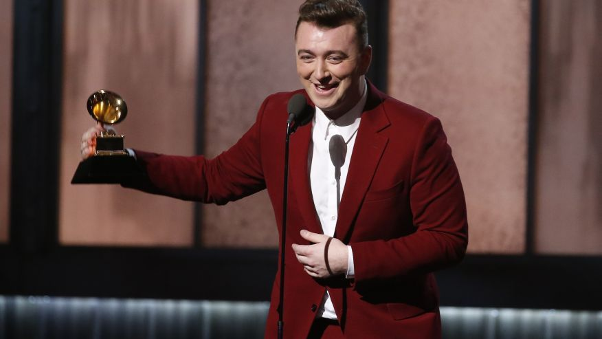 Sam Smith accepts the award for best new artist at the 57th annual Grammy Awards in Los Angeles, California February 8, 2015. (Reuters)