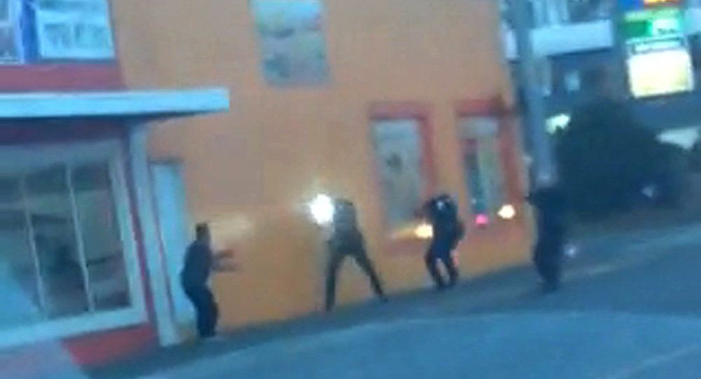 Screenshot from the video about police shooting an unarmed man