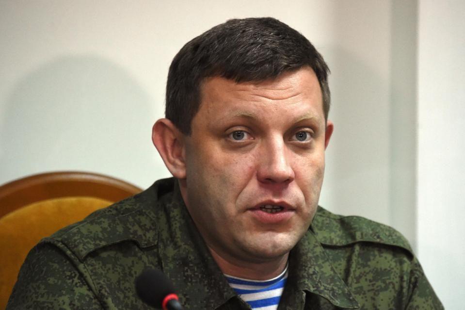 Alexander Zakharchenko, the head of self-proclaimed Donetsk People's Republic