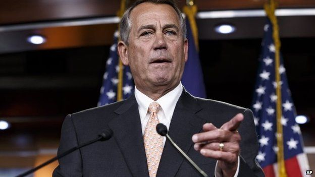 Republican House Leader John Boehner is among the signatories of the letter to President Obama