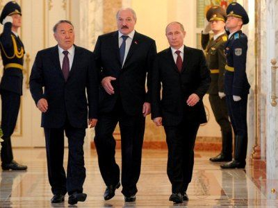 N. Nazarbayev, A. Lukashenko, V. Putin