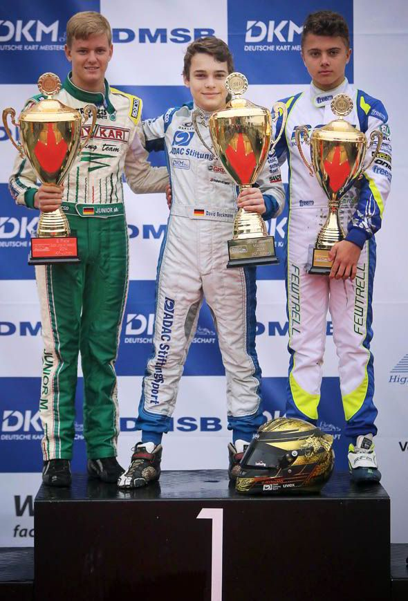 Mick finished second in the World, European and German kart championships last season.