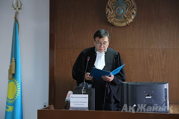 The judge Zhaidarbek Diarov