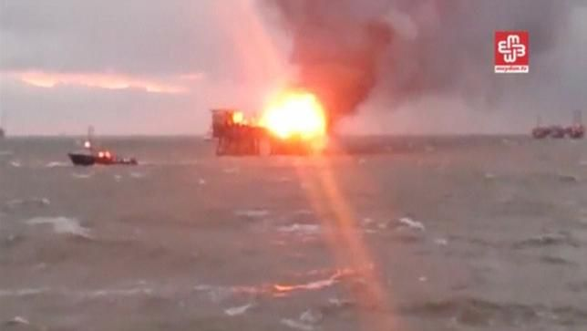 Azerbaijan mourns 'many deaths' after oil rig fire (+Video