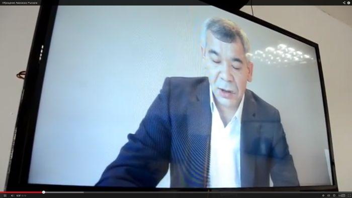 Ex-Governor's Case. Amanzhan Ryskali's Video Message