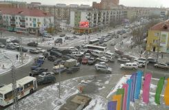 When traffic lights broke down in Atyrau
