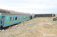 Almaty-Atyrau train derailed