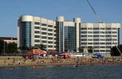 Atyrau Beach on the Ural River