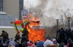 Celebration of Maslenitsa - a Russian festival