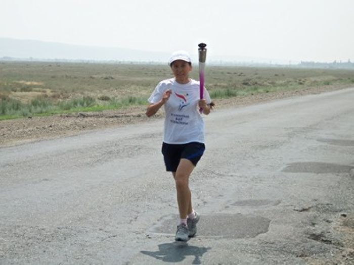 Girl from Oral took part in World Harmony Run