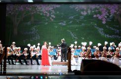 Atyrau Dina Nurpeissova Orchestra and Saltanat Akhmetova performing at Astrakhan Opera Theartre