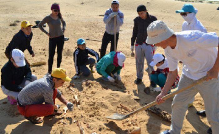 Buried warrior of Oguz period uncovered in Atyrau