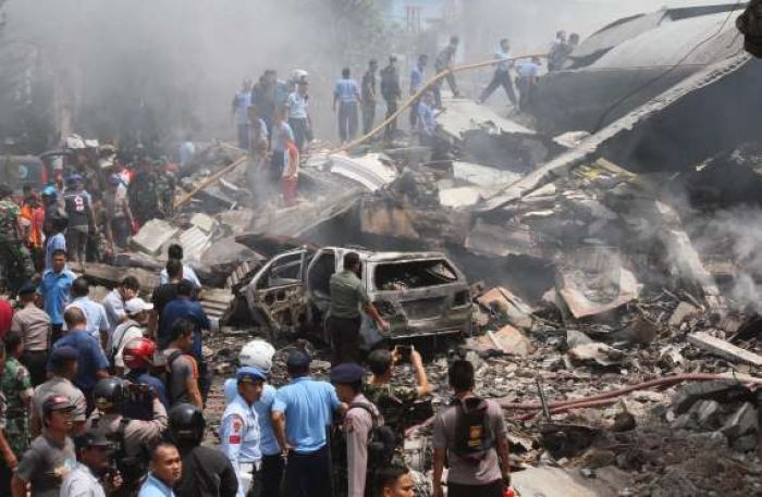 Death toll rises to 53 after military plane crashes in Medan, Indonesia