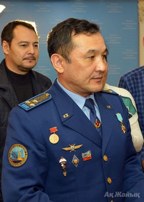 Kazakh astronaut Aidyn Aimbetov arrived to Atyrau